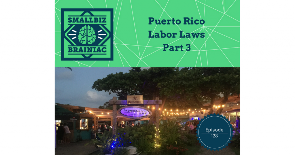 Even after these 3 episodes on Puerto Rico's labor laws most of the iceberg is still below the surface. I'm not sure how many episodes it would take to cover every topic, but at least we'll have gone over almost everything, that was impacted by the Labor Transformation and Flexibility Act.
