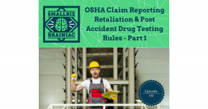 Effective January 1, 2017, OSHA's new Recordkeeping rule took effect. There are two main parts to the new rule. I told you about the Recording and Reporting part in episode 89 on December 6, 2016,